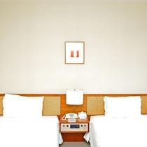 スタンダードツイン(5~8階)広さ:26平米 ベッド幅:200cm×110cm