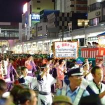 8月1日に行われる長岡まつり 民謡ながし(徒歩5分)