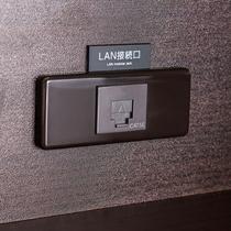 【有線LAN接続サービス】9階から12階までの、デスクにございます。