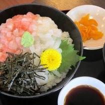 『白エビと甘海老の海鮮丼』