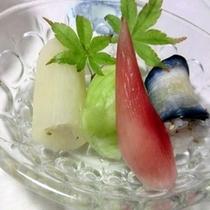 ■自家製漬物のお寿司