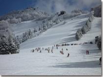 高天原スキー場。ゲレンデ広し。