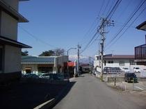 当館前と妙高山
