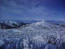 絶景の眺めを御堪能あれ! 横手山山頂から。