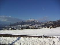 雪の高社山、2