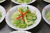 メインディナーサラダ例