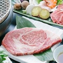 県産黒毛和牛ロースステーキ(イメージ)