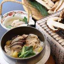 松茸釜飯(一例)