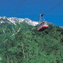 【立山黒部アルペンルート】黒部平と大観峰をつなぐロープウェー。絶景が望めます。