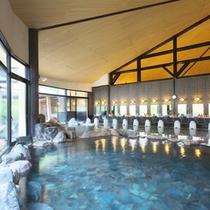 【石の湯】大浴場は広く天井が高いので開放的な空間です☆