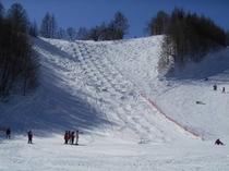 スキー場モーグルコース
