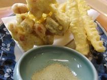 自家製野菜の天ぷら