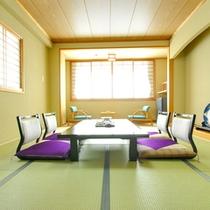 畳の香りがほのかに薫る純和風のお部屋。足を伸ばして癒しのひと時をお過ごし下さい。