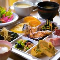 美味しい朝食を食べて元気にスタート!