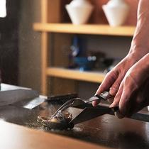 【鉄板焼きコース】新鮮な魚介をご堪能♪