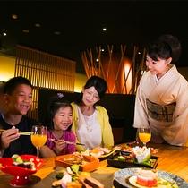 【ファミリープラン】楽しい会話と美味しい食事で子供も大喜び♪