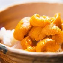 【季節の極み会席】で新鮮な生雲丹丼をご堪能ください♪