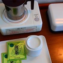 *ポット&お茶 書くお部屋にはお茶とポットをご用意しております。