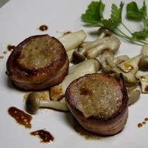 肉料理の一例 豚ヒレ肉のワインビネガーソース