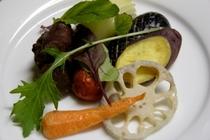 牛肉の煮込み 焼き野菜添え