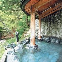 露天風呂【川風と湯けむり】