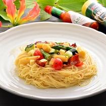 ランチ:冷製スパゲッティー(レストランもみの木)