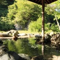 ☆明るい日差しを浴びた露天風呂