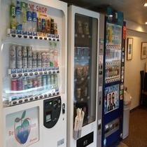 客室フロアーにある自動販売機