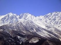 お部屋からの日本アルプスの景観