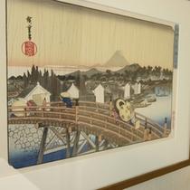 【日本橋】歌川(安藤)広重作、東都名所「日本橋之白雨」の絵。