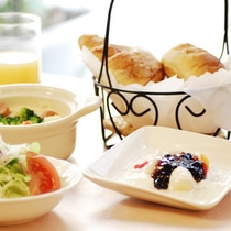 朝食の一例【洋定食】