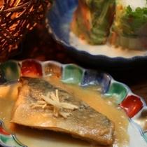 夕食(煮魚)