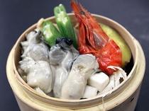 牡蠣の海鮮セイロ蒸し600