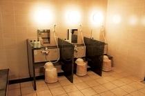 洗面場所は五つご準備しております