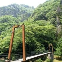 立久恵峡とつり橋
