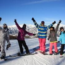 スキー場グループ写真