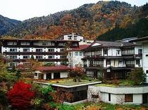 秋の紅葉と仙岳荘