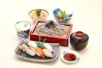 彩り寿司そばセット
