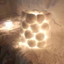 *雪玉ランプシェード