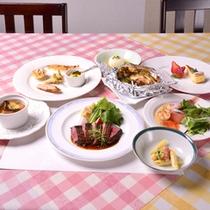 *飛騨牛ステーキをメインとしたコース一例