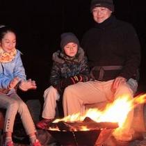 テンゲルの新名物〜焚き火③