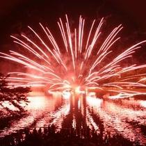 りんどう湖 水上花火