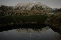 みくりが池に映る星空