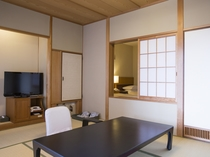 【エコノミー:和洋室】ベッドを配した使い勝手の良い和洋室です