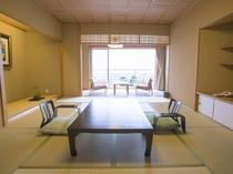 【ハイグレード:和洋室】ごゆっくりとお寛ぎ頂ける和室とベッドルームでお部屋の広さは68㎡とゆったり