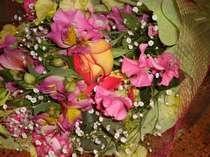 サプライズに・・・花束