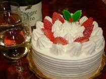 クリスマスケーキ&ワイン