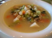 帆立貝と牛窓野菜のスープ