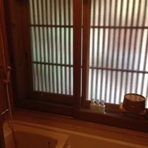 【平成館】お部屋の内風呂も温泉となっております。