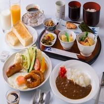 和食または洋食からお好みのご朝食をお選びいただけます。